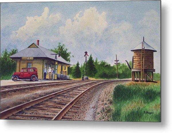 Mansfield Railroad Station Metal Print