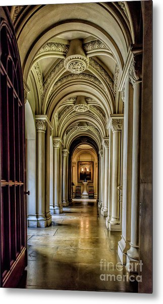 Metal Print featuring the photograph Mansion Hallway by Adrian Evans