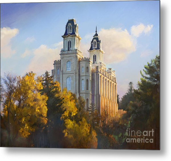 Manti Temple Metal Print