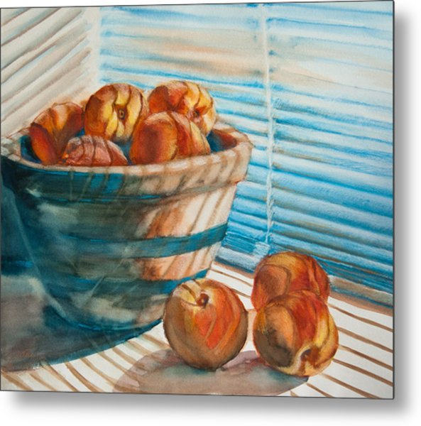 Metal Print featuring the painting Many Blind Peaches by Jani Freimann