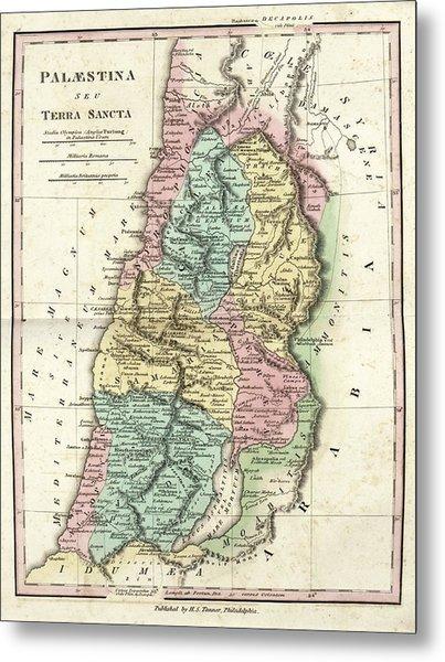 Map Of Ancient Palestine Metal Print