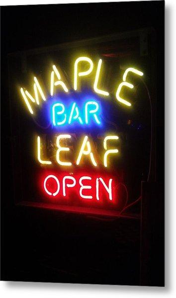 Maple Leaf Bar Metal Print
