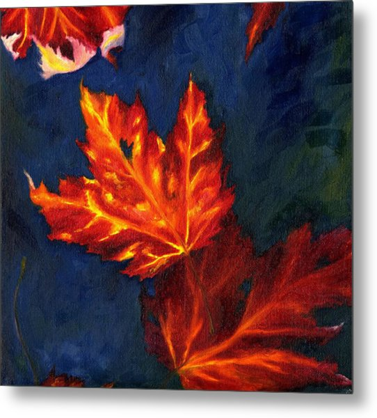 Maple Leaves In Autumn Metal Print
