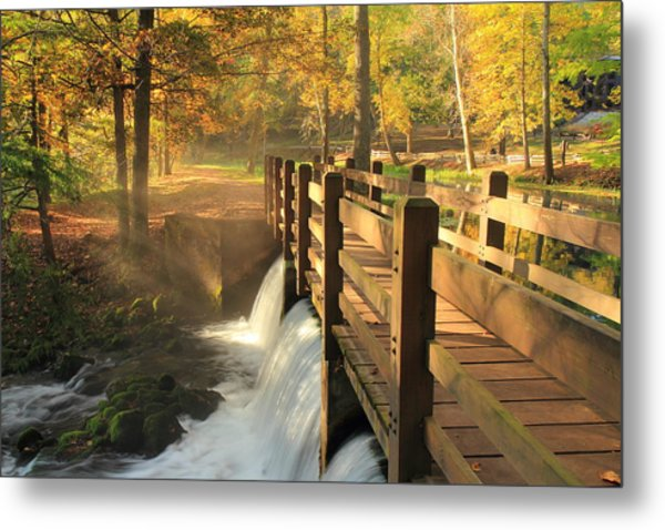 Maramec Bridge And Falls Metal Print