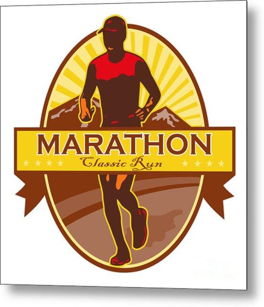 Marathon Classic Run Retro Metal Print by Aloysius Patrimonio