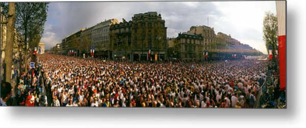 Marathon Runners, Paris, France Metal Print