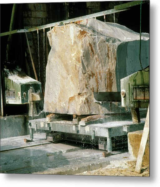 Marble Quarry At Fantiscritti Caves Metal Print by Sheila Terry/science Photo Library.
