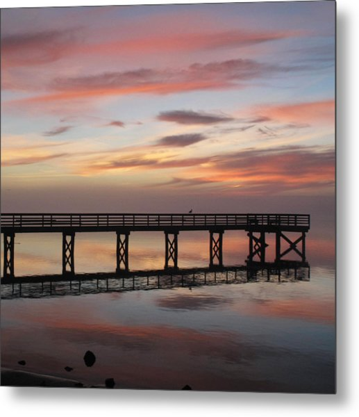 Marbled Pier Metal Print