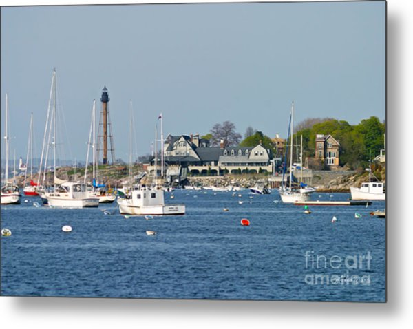 Marblehead Light And Yacht Club Metal Print