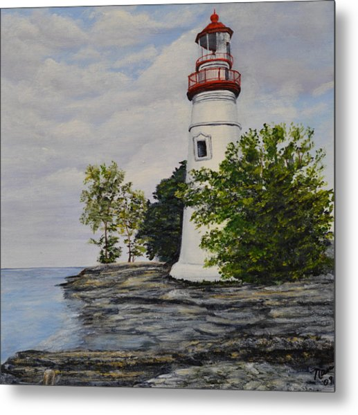 Marblehead Light House On Lake Erie Metal Print