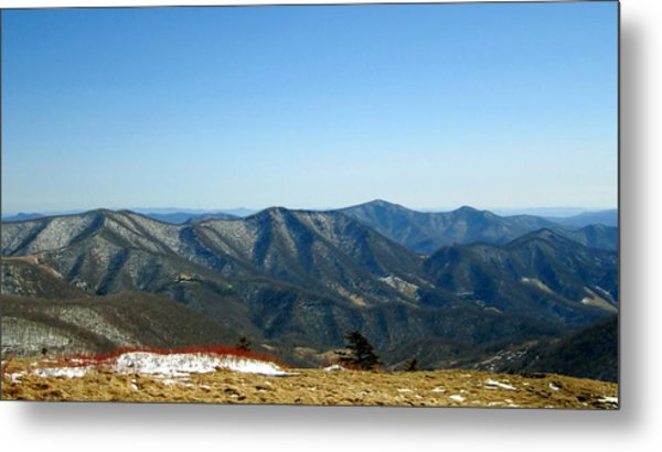 March Snow In The Mountains Metal Print