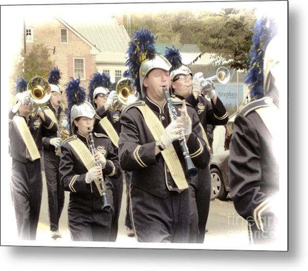 Marching Band - Shepherd University Ram Band At Homecoming 2012 Metal Print