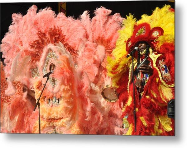 Mardi Gras Indians Metal Print