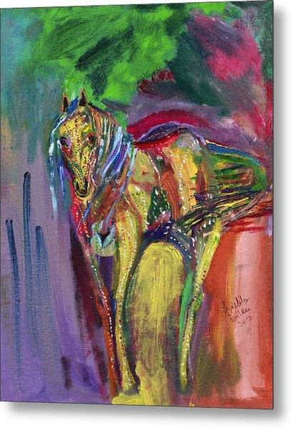 Mardigras Horse Metal Print
