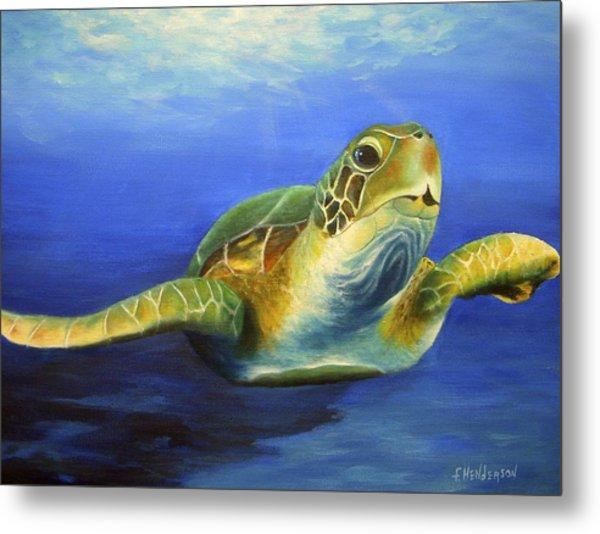 Margie The Sea Turtle Metal Print