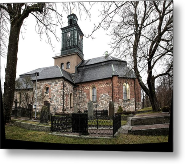 Maria Church Enkoeping From South Leif Sohlman Metal Print
