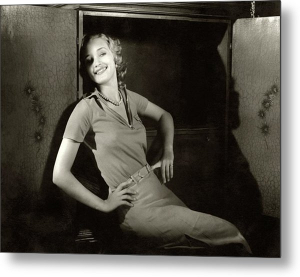 Marian Marsh Smiling Metal Print