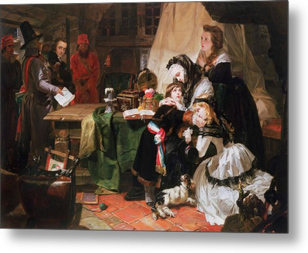 Marie Antoinette And Her Children Oil On Canvas Metal Print