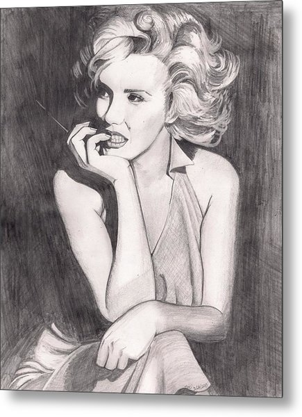Marilyn Metal Print by Beverly Marshall
