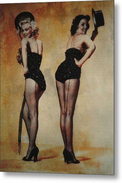 Marilyn Monroe And Jane Russell Metal Print