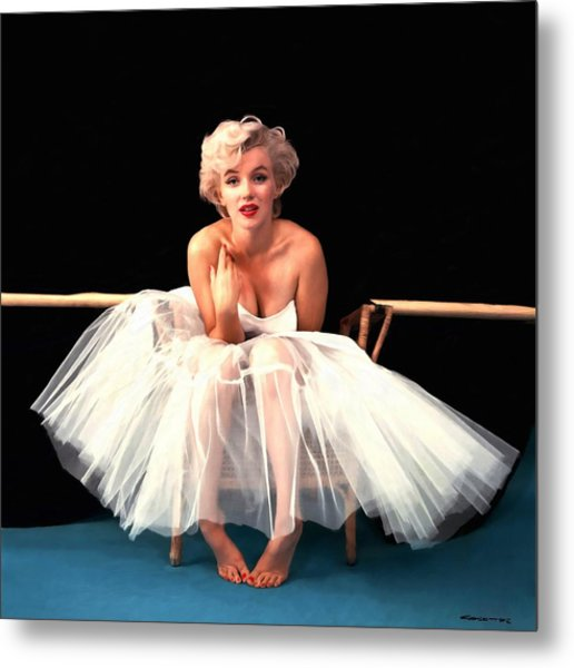 Marilyn Monroe Portrait Metal Print