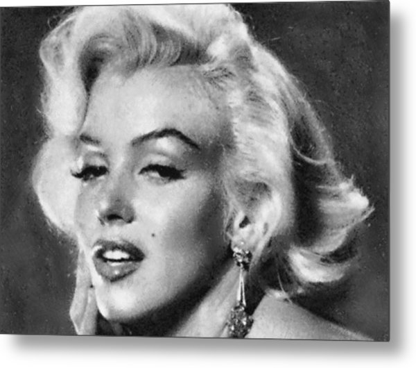 Beautiful Marilyn Monroe Unique Actress Metal Print
