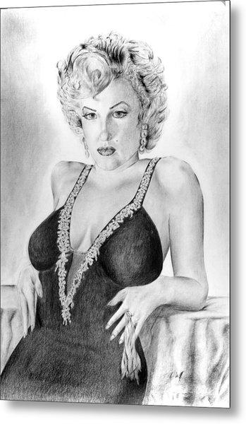 Marilyn Monroe Metal Print by Vincent Wolff
