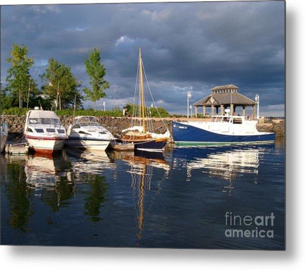 Marina At Charlottetown Prince Edward Island Metal Print
