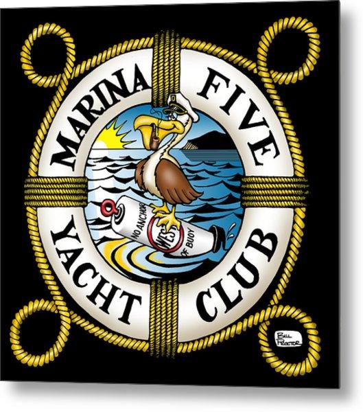 Marina Five Yacht Club Metal Print