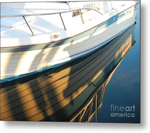 Marina Reflections Metal Print