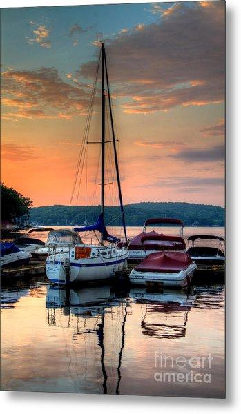 Marina Sunrise Metal Print by Craig Holquist