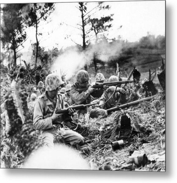 Marines In Okinawa Metal Print