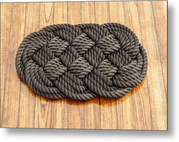 Maritime Rope Art Metal Print