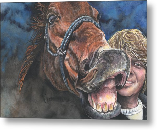 Mark And Shady..a Selfie Metal Print by Kim Sutherland Whitton