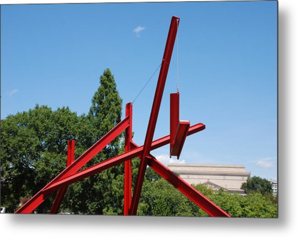 Mark Di Suvero Steel Beam Sculpture Metal Print