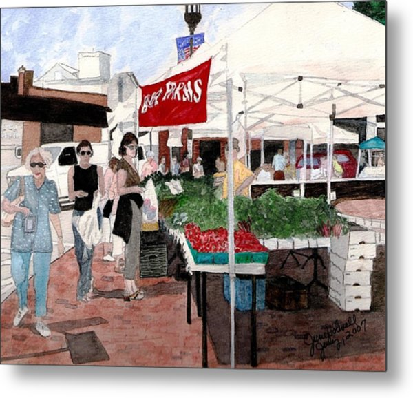 Market Day Metal Print