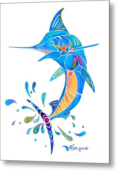 Marlin Dance Of Color Metal Print