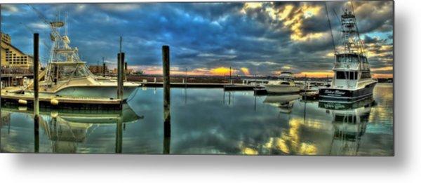 Marlin Quay Marina Metal Print
