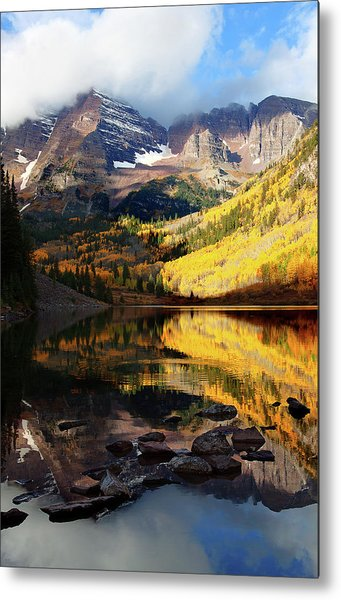 Maroon Bells Autumn Metal Print