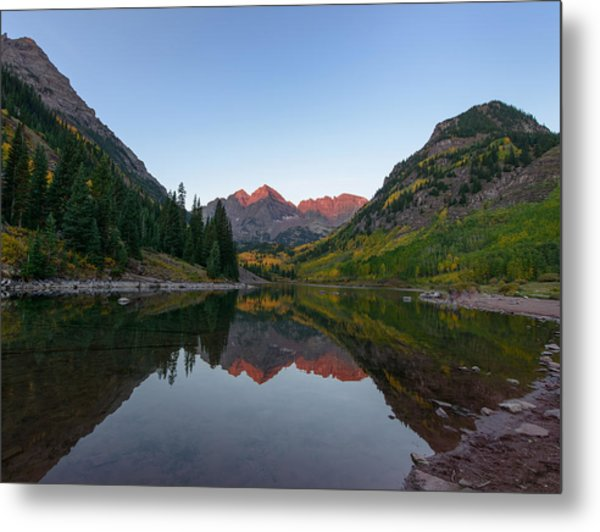 Maroon Bells Sunrise Metal Print by David Yack