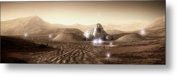 Mars Habitat - Valley End Metal Print