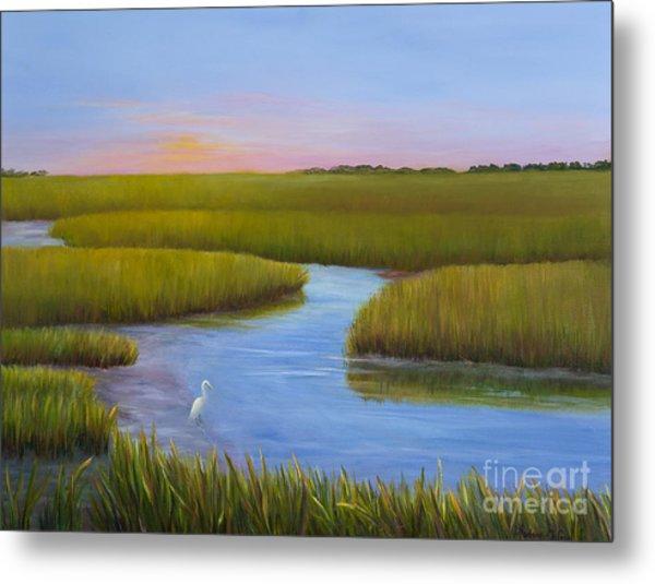 Marsh At Low Water Metal Print