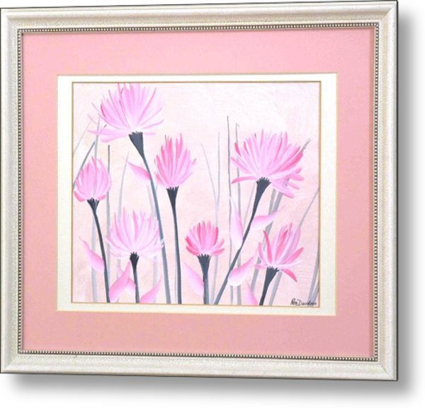 Marsh Flowers Metal Print