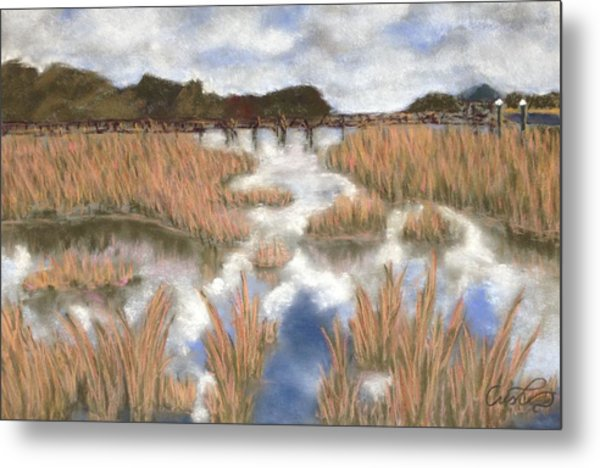 Marsh Reflections Metal Print by Cristel Mol-Dellepoort