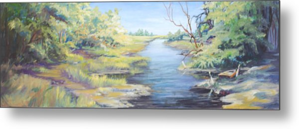 Marsh Waterway Metal Print