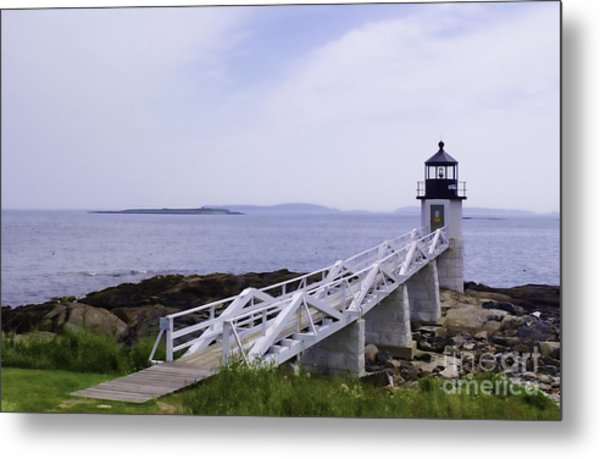 Marshall Point Light 1 Stylized Metal Print