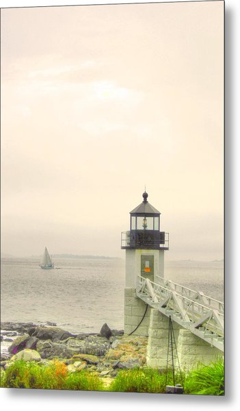 Marshall Point Lighthouse In Maine Metal Print