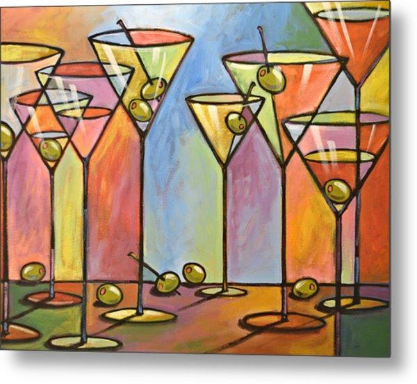 Martini Bar ... Abstract Alcohol Art Metal Print