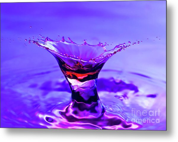Martini Splash Metal Print