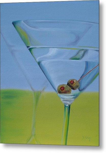 Martini Time Metal Print